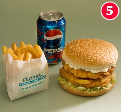 Double Chicken Sandwich with Large Chips and a FREE Can