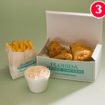 2 Pieces of Chicken with Standard Chips and small Coleslaw or a FREE Can
