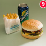 Half Pound Burger with Standard Chips and a FREE Can