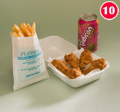 5 Hot Wings with Large Chips and a FREE Can